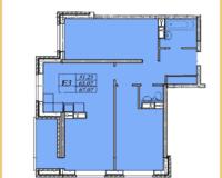 3  комнатная квартира 67,07 кв. м