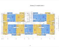 Планировка типовая, этажи 2-5, блок 1