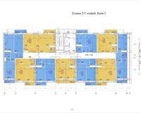 Планировка типовая, этажи 2-5, блок 2