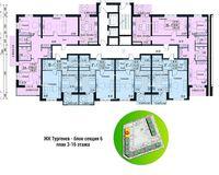 Секция 6, этажи 3-18
