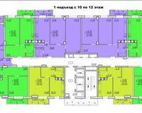 Подъезд 1, этажи 10-12