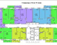 Подъезд 1, этажи 13-17