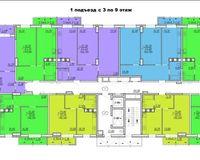 Подъезд 1, этажи 3-9
