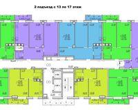 Подъезд 2, этажи 13-17