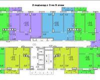 Подъезд 2, этажи 3-9