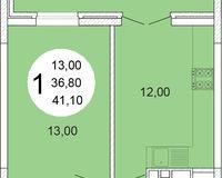 1-комнатная квартира 41.1 кв. м