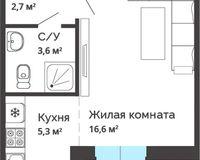 Студия 29,90 кв. м