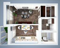 1 комнатная квартира 38,91 кв. м