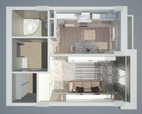 1 комнатная квартира 38,61 кв. м