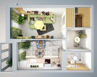 1 комнатная квартира 40,11 кв. м