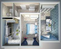 2 комнатная квартира 57,15 кв. м