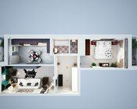 2 комнатная квартира 69,35 кв. м