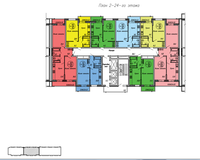 Секция 2, этажи 2-24