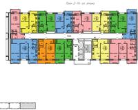 Секция 3, этажи 2-16