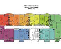 Подъезд 2, этажи 3-13