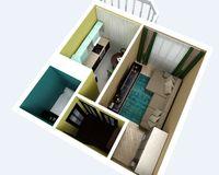 1-комнатная квартира 35,1 кв. м