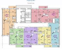 Подъезд 3, типовой этаж