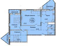 3 комнатная квартира 101,18 кв. м