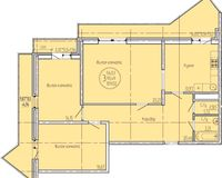 3 комнатная квартира 109,02 кв. м