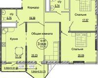 3 комнатная квартира 111,71 кв. м