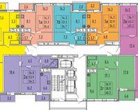 Секция 1, этажи 4, 6, 8