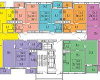 Секция 1, этажи 11, 15, 17, 19