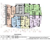 Блок-секция 1, этажи 10, 11, 14, 15, 16