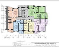 Блок-секция 1, этажи 12 и 13