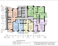 Блок-секция 1, этажи 2-9