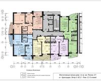 Блок-секция 2, этажи 12 и 13