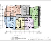 Блок-секция 2, этажи 10, 11, 14, 15, 16