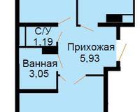 БС 3, 2-комнатная квартира 58.04 кв. м