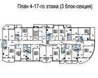 Подъезд 1, этажи 4-17