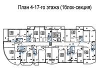 Подъезд 3, этажи 4-17