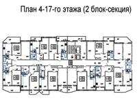 Подъезд 2, этажи 4-17