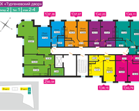 Литер 2, тип 1, этажи 2-4
