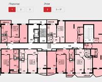 Подъезд 1, этаж 2