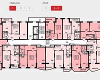 Подъезд 1, этажи 3-17