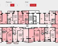 Подъезд 2, этажи 3-17
