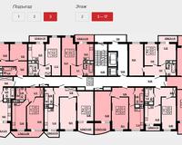 Подъезд 3, этажи 3-17
