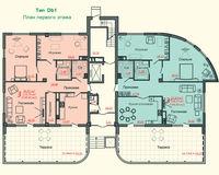 Тип D, этаж 1