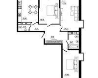 3 комнатная квартира 101,64 кв. м, тип 2