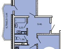 2-комнатная квартира 67,10 кв. м