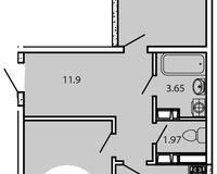 2-комнатная квартира 68,30 кв. м