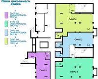 Литер 1, секции 2, 4, этаж цокольный