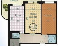 2 комнатная квартира 67,76 кв. м
