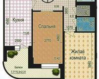 2 комнатная квартира 66,12 кв. м