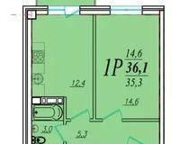 1 комнатная квартира 36,1 кв. м