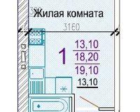 Студия 19,1 кв. м