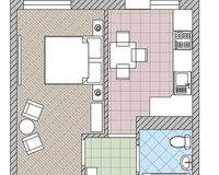 1 комнатная квартира 30,7 кв. м